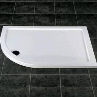 MX Elements Offset Quadrant Left Hand Shower Tray with Waste 900 x 760mm