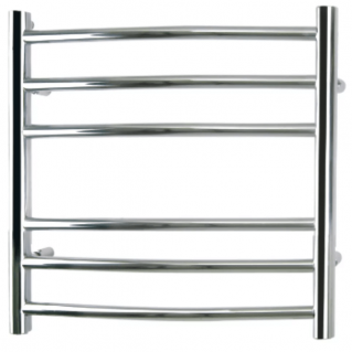 Reina Eos Curved Stainless Steel Heated Towel Rail 430 x 500mm