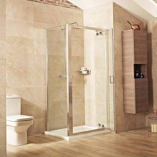 Roman Lumin8 Inswing Shower Door 760mm