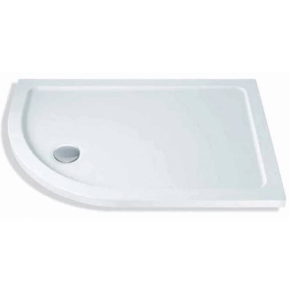 MX Elements Offset Quadrant Left Hand Shower Tray with Waste 1000 x 900mm