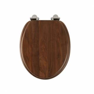 Roper Rhodes Traditional Walnut Solid Wood Toilet Seat with Quick Release Hinges