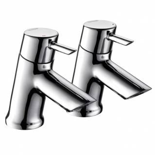 Bristan Acute Basin Taps Chrome