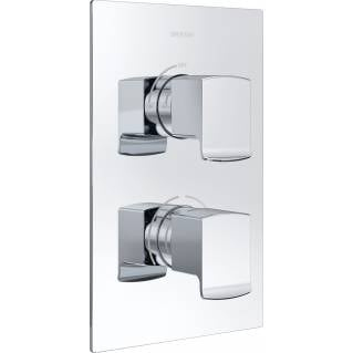 Bristan Descent Thermostatic Recessed Two Outlet Diverter Shower Valve