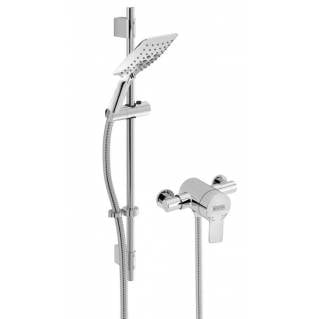 Bristan Exodus Thermostatic Exposed Shower with Adjustable Riser Kit