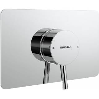 Bristan Prism Thermostatic Recessed Single Outlet Shower Valve