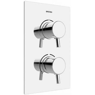 Bristan Prism Thermostatic Recessed Two Outlet Diverter Shower Valve