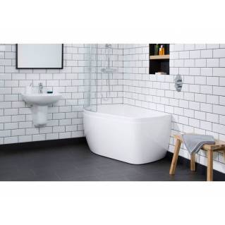 Carron Profile Shower Bath 1500 x 900mm Right Hand