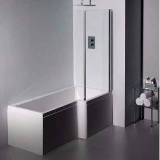 Carron Quantum Square Shower Bath 1500 x 700/850mm Right Hand
