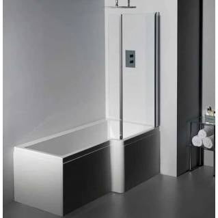 Carron Quantum Square Shower Bath 1600 x 700/850mm Right Hand
