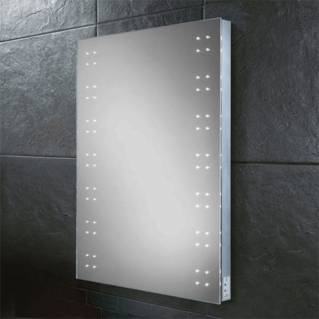 HIB Ariel Steam Free LED Mirror with Charging Socket 800 x 600mm