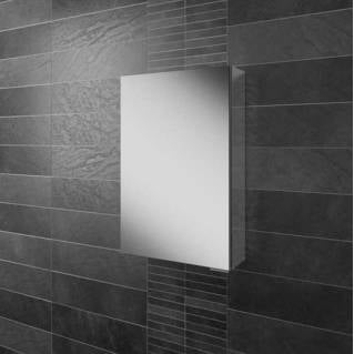 HIB Eris 40 Aluminium Bathroom Cabinet with Mirror Sides 400 x 600mm