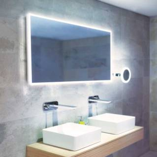 HIB Globe 120 LED Ambient Mirror 600 x 1200mm