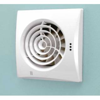 HIB Hush White Wall Mounted Fan with Timer