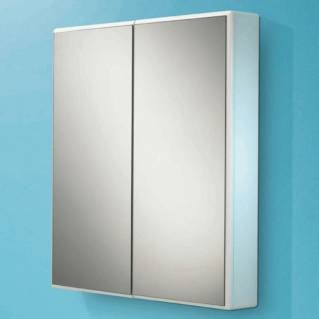 HIB Jersey White Gloss Bathroom Cabinet 650 x 700mm