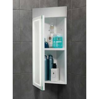 HIB Minnesota LED White Gloss Bathroom Cabinet 300 x 630mm