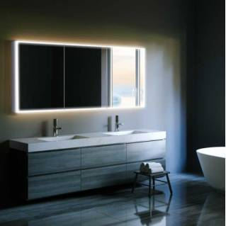HIB Qubic 120 LED Aluminium Bathroom Cabinet 1200 x 700mm