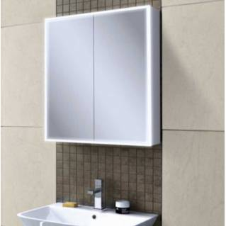HIB Qubic 60 LED Aluminium Bathroom Cabinet 600 x 700mm