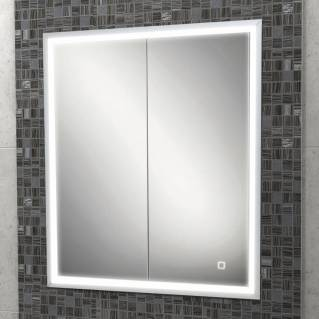 HIB Vanquish 60 LED Demisting Recessed Aluminium Bathroom Cabinet 630 x 730mm