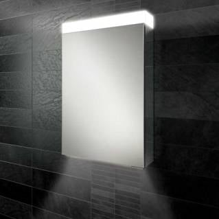 HiB Apex 50 LED Aluminium Bathroom Cabinet with Mirrored Sides 500 x 750mm