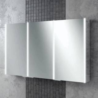 HiB Xenon 120 LED Aluminium Bathroom Cabinet with Mirrored Sides 1205 x 700mm