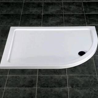 MX Elements Offset Quadrant Right Hand Shower Tray with Waste 900 x 760mm