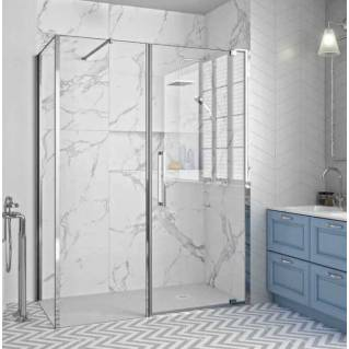 Merlyn 10 Series Pivot Shower Door & Inline Panel 1200mm