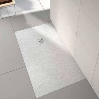 Merlyn Truestone Rectangular Shower Tray 1000 x 800mm White