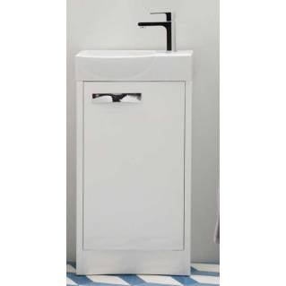 Roper Rhodes Mia 450mm Freestanding Unit with Basin Gloss White