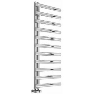 Reina Cavo Brushed Stainless Steel Heated Towel Rail 530 x 500mm