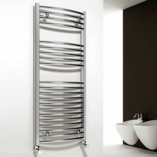 Reina Diva Electric Curved Heated Towel Rail 1000 x 400mm Chrome