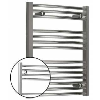 Reina Diva Electric Curved Heated Towel Rail 800 x 400mm Chrome