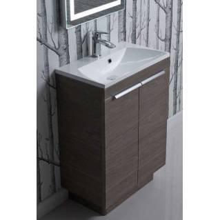 Roper Rhodes Cypher 600mm Freestanding Unit with Basin Dark Elm