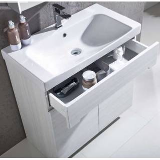 Roper Rhodes Diverge 800mm Freestanding Unit with Ceramic Basin Alpine Elm
