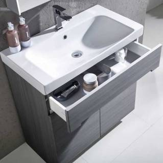 Roper Rhodes Diverge 800mm Freestanding Unit with Ceramic Basin Charcoal Elm