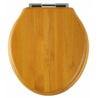 Roper Rhodes Greenwich Antique Pine Solid Wood Toilet Seat with Soft Close Hinges