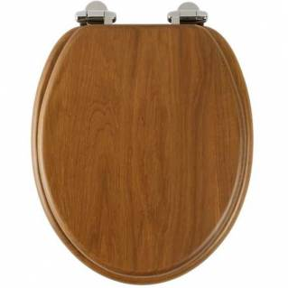 Roper Rhodes Traditional Honey Oak Solid Wood Toilet Seat with Quick Release Hinges