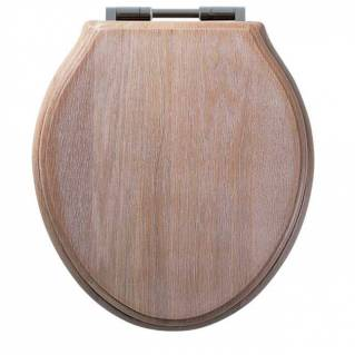 Roper Rhodes Traditional Limed Oak Solid Wood Toilet Seat with Quick Release Hinges
