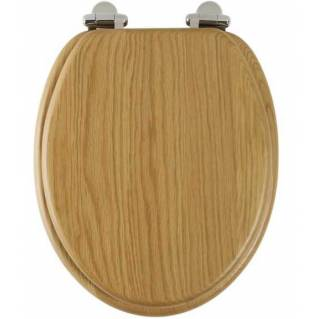 Roper Rhodes Traditional Oak Solid Wood Toilet Seat with Quick Release Hinges