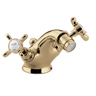Bristan 1901 Bidet Mixer with Pop Up Waste Gold