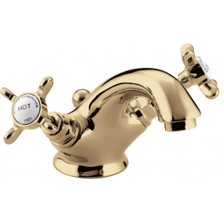 Bristan 1901 Basin Mixer With Pop Up Waste Gold