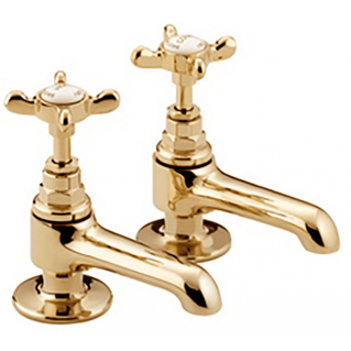 Bristan 1901 Basin Taps Gold