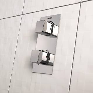Bristan Cobalt Thermostatic Recessed Single Outlet Shower Valve