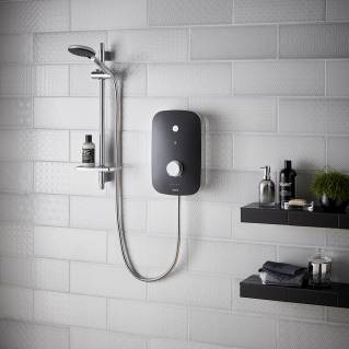Bristan Noctis 9.5kw Electric Shower Black & Chrome