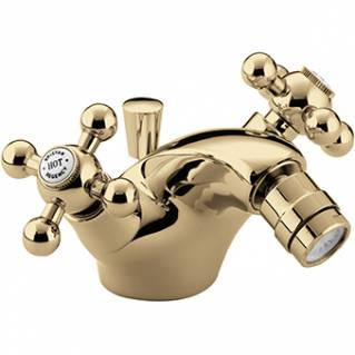 Bristan Regency Bidet Mixer with Pop Up Waste Gold