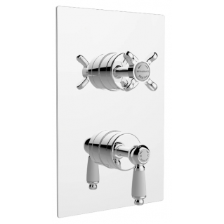Bristan Renaissance Thermostatic Recessed Twin Stopcocks Shower Valve