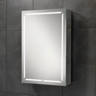 HIB Groove 50 LED Demisting Bluetooth Bathroom Cabinet 500 x 700mm