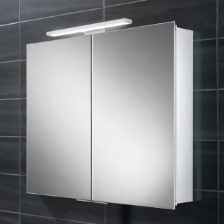 HIB Neutron LED Aluminium Bathroom Cabinet 600 x 700mm