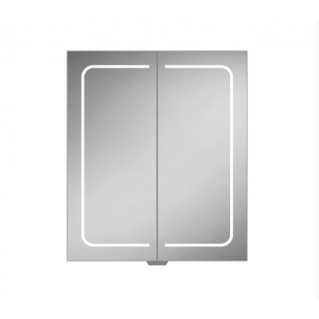 HIB Vapor 60 LED Demisting Aluminium Bathroom Cabinet 600 x 700mm