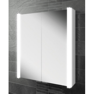 HIB Vita 60 LED Aluminium Bathroom Cabinet 600 x 700mm