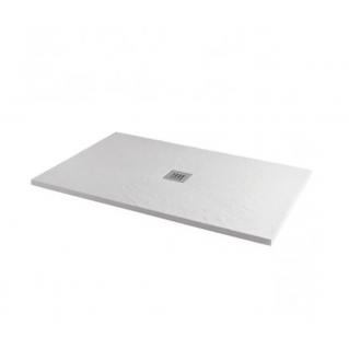 MX Minerals Rectangular Ice White Shower Tray 1000 x 800mm